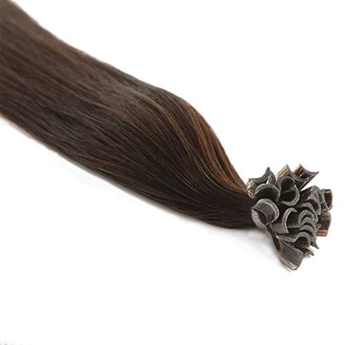 Extensions Cheveux Kératine 100 mèches indiennes 0,8gr Brun 50cm
