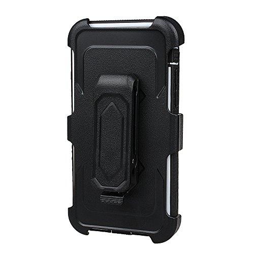 """xhorizon FM8 Eingebaut Schützender Stoßdämpfer Heavy Duty Schutz Schockreduzierung/Stoßstang Case für Apple iPhone 7 Plus [5.5""""] (Cyan) Weiß Mit einem 9H gehärtetem Glasfilm"""
