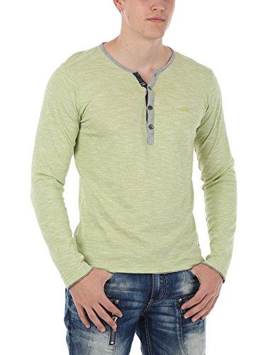 M.O.D Herren Pullover Longsleeve Grün (Green Lime 88)
