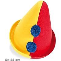 gelb oder rot Faschingshut Clownshut Melone lustige Clownshüte Clownmelone