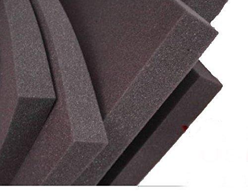 MVSS302 akustik Selbstklebend, Pyramiden Schaumstoff SELBSTKLEBEND FOLIE D/ämmung Schallschutz Flammhemen ca 100x100x5cm