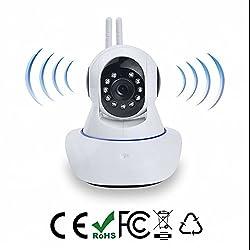 HD IP Kamera,Wlan/Wifi Babyfon Indoor Heim Home Security Überwachungskamera,3.6mm Weitwinkelobjektiv,Infrarot Nachtsicht,Zwei-Wege- Audio,Eingebautes Mikrofon und Micro SD-Karte-Steckplatz,Schnelle und einfache Installation