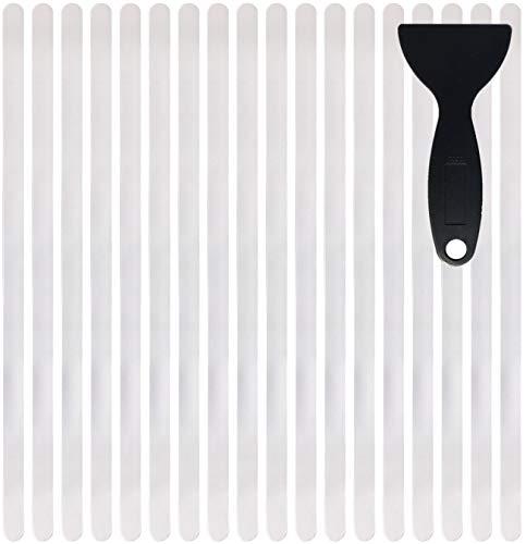 cocofy strisce antiscivolo adesivo scale XXL (90 x 3 cm) trasparente | sicurezza con tenuta extra forte | autoadesive | Confezione da 18