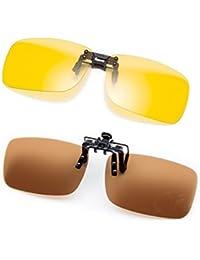 Cyxus [2 packung] Polarisierte Brille Clip Polarisierte Gläser Classic Sonnenbrille [Entspiegelten] [UV Schutz] Fahren/Fischerei/Sport/Night vision eyewear, Männer und Frauen