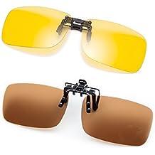 Cyxus 2 Paquets Lentilles Polarisées Lunettes de Soleil Classiques, [Anti-Reflets] [Protection UV] Conduite/Pêche/Sport/Lunettes de Vision Nocturne, Les Hommes et Les Femmes