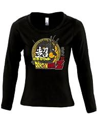 Camiseta Super Dragon Ball Z de chica manga larga (Talla: TALLA-L)