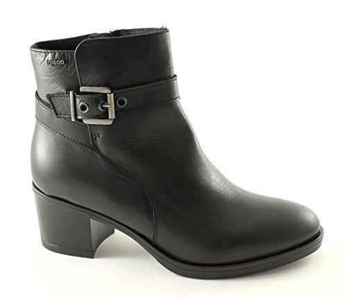 IGI & CO 48640 schwarze Schuhe Frau Stiefeletten Leder zip Nero