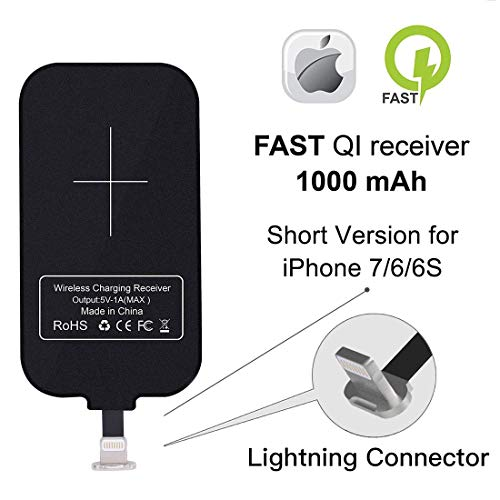 Nillkin Wireless Ladegerät Compatible fur iPhone, Wireless Charging Receiver, Magic Tag Qi Wireless Ladegerät Empfänger Patch Modul Chip Compatible für iPhone 7/6/ 6s/ 5/ 5S/ SE