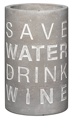 Räder - P.e.T. Vino Beton Weinkühler Save water drink wine Höhe 21 cm Ø 13,5 cm
