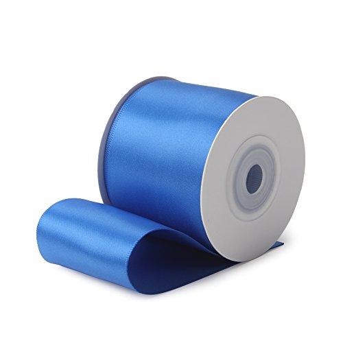 Ruspepa 9 m x 50 mm di larghezza double face nastro di raso (350 blu reale)