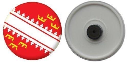 Miroir insigne de bouton France Alsace drapeau - 58mm