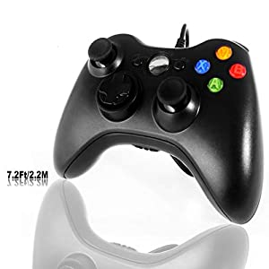 PC Controller, Wired Gamepad f¨¹r Xbox 360 Windows Micsoft (Windows XP, Vista, 7, 8, 8.1, 10) Schwarz