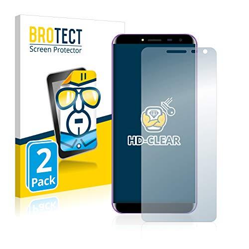 BROTECT Schutzfolie kompatibel mit Oukitel C8 [2er Pack] - klarer Bildschirmschutz