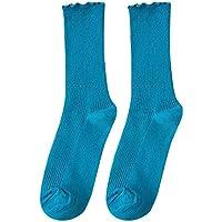 Amphia - Reine Farbe Haufen Socken, Pilz Spitze, loser Mund, Strümpfe,Weibliches Mädchen-Süßigkeit-Farben-Baumwollpilz-zufälliger netter Stapel der Socken stellte freie Größe ein