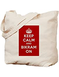 cafepress Keep Calm and Carry et Bikram sur sac fourre-tout  BLvKy8ANY