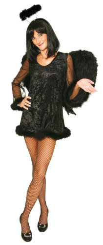 Black Angel Damen Kostüm schwarzer Engel zu Halloween Gr.44/46