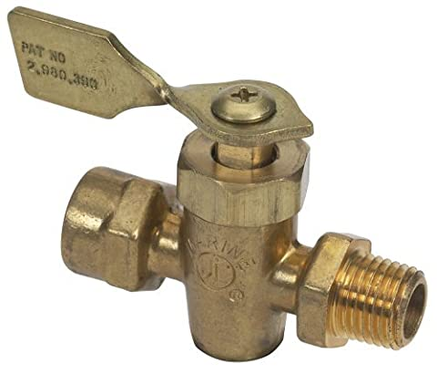 Moeller Fuel Tank Shut-Off Valve (1/4 FNPT, Male/Female, Brass) by Moeller Marine