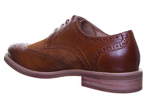 Justin Reece Calvin Matt Chaussures en cuir pour homme Brown PN12