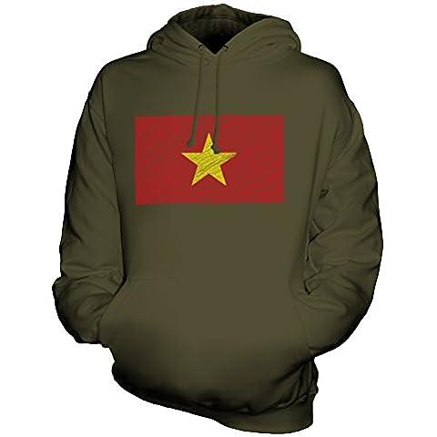 CandyMix Vietnam Bandiera Scarabocchio Unisex Uomo Donna Felpa con