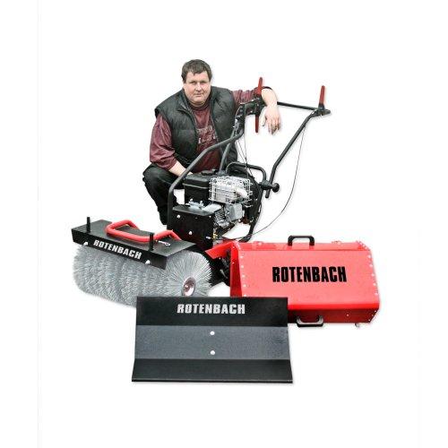 Produktabbildung von ROTENBACH 3 in 1 Kehrmaschine Schneefräse Räumgerät Schneeschild Motorbesen