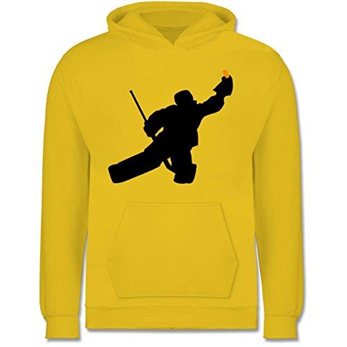 Sport Kind - Towart Eishockey Eishockeytorwart - 12-13 Jahre (152) - Gelb - JH001K - Kinder Hoodie