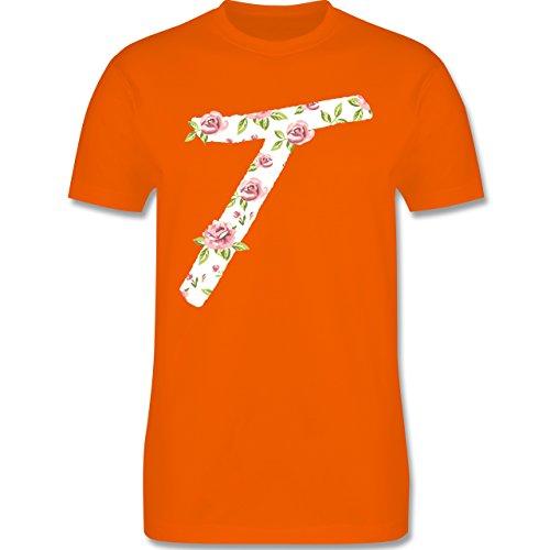 Anfangsbuchstaben - T Rosen - Herren Premium T-Shirt Orange