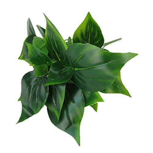 MagiDeal Künstliche Grüne Blätter Blattpflanzen Home-Office-Garten-Hochzeitsdekoration