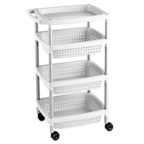 TATAY 7738201 Carrito auxiliar cocina 4 cestas ruedas