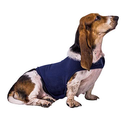 Zhuomei Chaleco Abrigo para Calmar la Ansiedad Chaleco de Invierno Camiseta Antiansiedad para Perro Apaciguar Emoción de Miedo Azul L