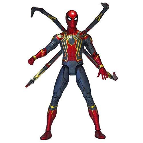 MODELSS Avengers Iron Man Actionfigur, Spider-Man-Actionfigur Ganzkörper-Gelenkaktivität - 6 Zoll, Modell Toy Boy