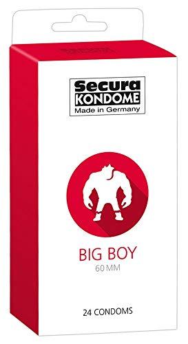 Secura Big Boy 24er Kondome - 24 breite Präservative zur Verhütung ohne Hormone für Männer, transparent