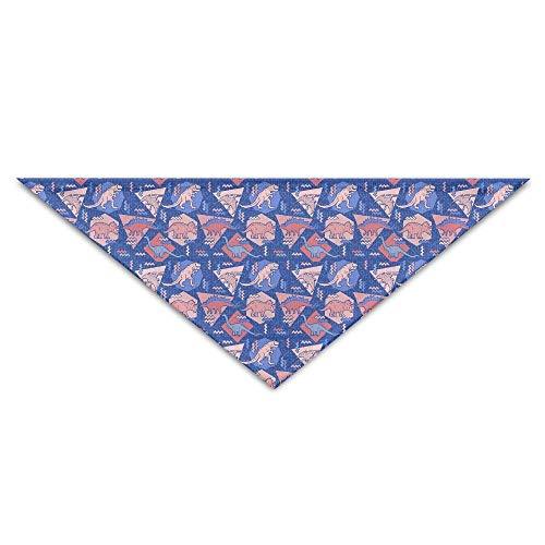 Gorgeous Socks Schöne Geometrie Dinosaurier Musterdruck Polyesterfaser 100% Haustier Schals Zubehör einstellbar für alle Größen Hunde Katzen Haustiere