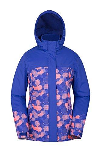 Mountain Warehouse Chaqueta de esquí Dawn para Mujer - Impermeable a la Nieve, Abrigo de esquí con Forro Polar, Puños, bajo y Capucha Ajustables Morado Claro 36