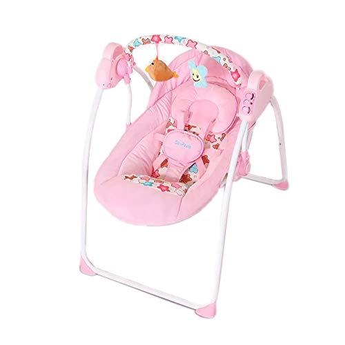 Säugling Prahler Balance Kleinkind Rocker Elektro Schaukel Erhöhen Swing Shaker Wiege Bett Baby Trösten Liege (Farbe : Rosa)