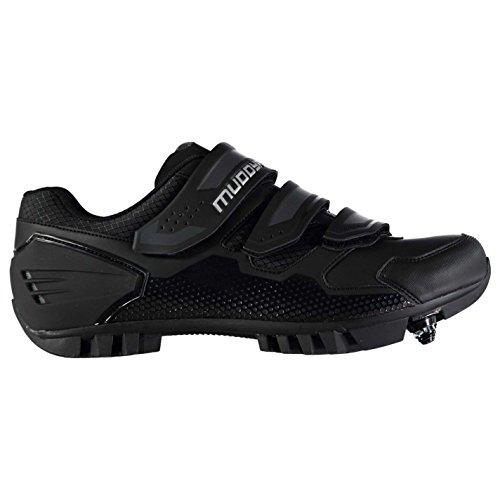 Muddyfox MTB100 Herren Fahrradschuhe Radsport Schuhe Radschuhe Klettverschluss Schwarz 7 (41)