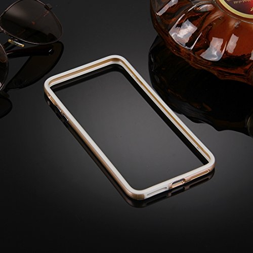 GHC Cases & Covers, Für iPhone 7 Silikon + Metall Aluminium Stoßfänger Rahmen ( Color : Gold ) Gold