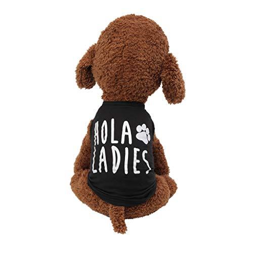 T.boys Haustierweste,Hundeshirt-T-Shirt Sommer Kleidung Ultradünn Drucken Sweatshirt für Kleine Hunde (Extra Kleine Pet Kostüme)