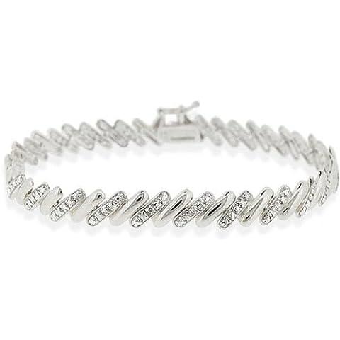 San Marco-Bracciale in argento Sterling, con dettagli in diamanti