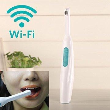 ASICO Wireless Wi-Fi Intraorale Kamera 6 LED-Lichter Freie App-Steuerung für iOS & Android (Intraorale Kamera Dental Wireless)
