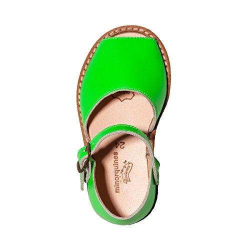 Minorquines - Sandales Frailera Boucle Fluo Verde - Enfant vert fluo