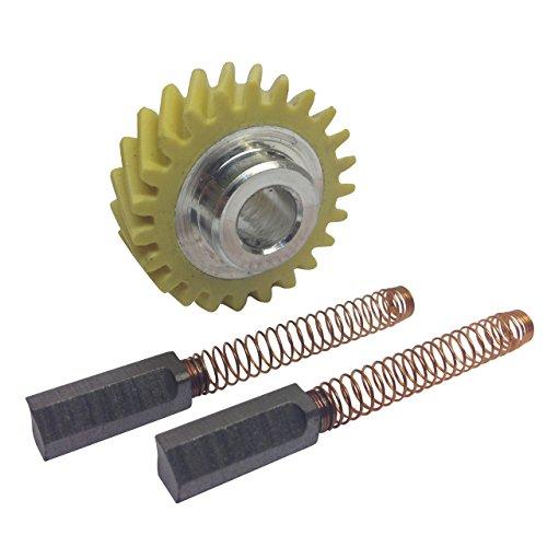 Original Standmixer-Schneckengetriebe W10112253 und ein Paar Motorbürsten, die mit Kitchenaid-Mischern kompatibel sind -