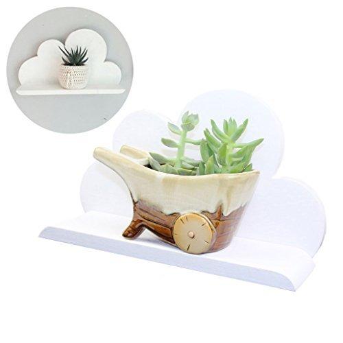 Pomcat mano bianca mensola nuvola di legno decorativo decorazioni rack hd14