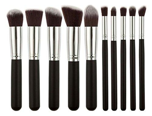 Bigood 10Pcs Pinceau Maquillage Professionnel Visage Make-up Kit d'Outil Cosmétique