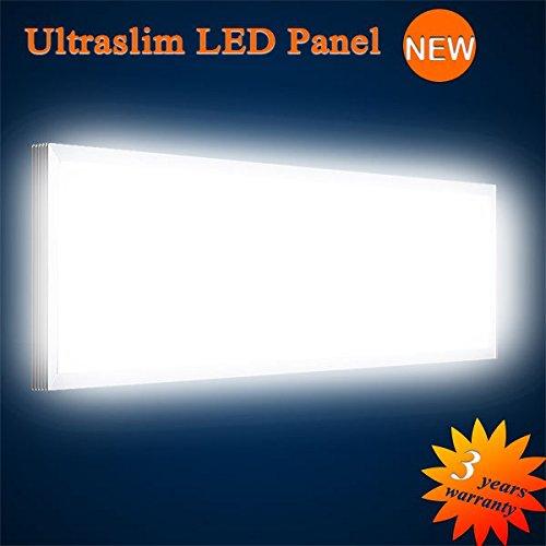 MEXT Electronic LED Panel Soffitto TV a parete Panel Ultraslim LED Panel Bianco Neutro 6000LM 75W 120x 30cm dimmerabile