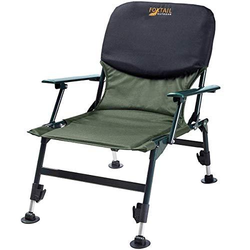 Foxtail Outdoor Leichter Camping Fischer-Stuhl mit Armlehne