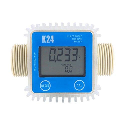 K24 Turbine Durchflußmesser Wasser Messer Anemometer digitale Gas Öl Kraftstoff Flow Meter für Chemikalien Wasser