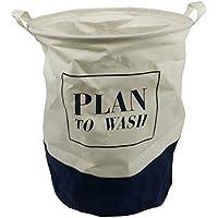 Ropa Sucia colada baúl Plan to Wash Azul/Blanco 45*)