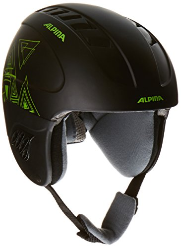 ALPINA Kinder Skihelm Carat, Black-Green, 48-52, 9035133