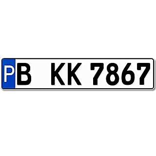 Parkplatzschild KFZ-Kennzeichen 520 x 110 mm, reflektierend, Wunschkennzeichen, Wunschtext, Namen oder Str./Hausnr.