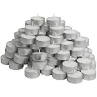 Ikea Glimma Candles/Tealights, Pack of 100, Wax, White, 19.1 x 19.1 x 5.9 cm